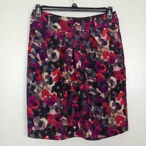 Jones NY A-Line Skirt Back Zip Water Color 8 #3218